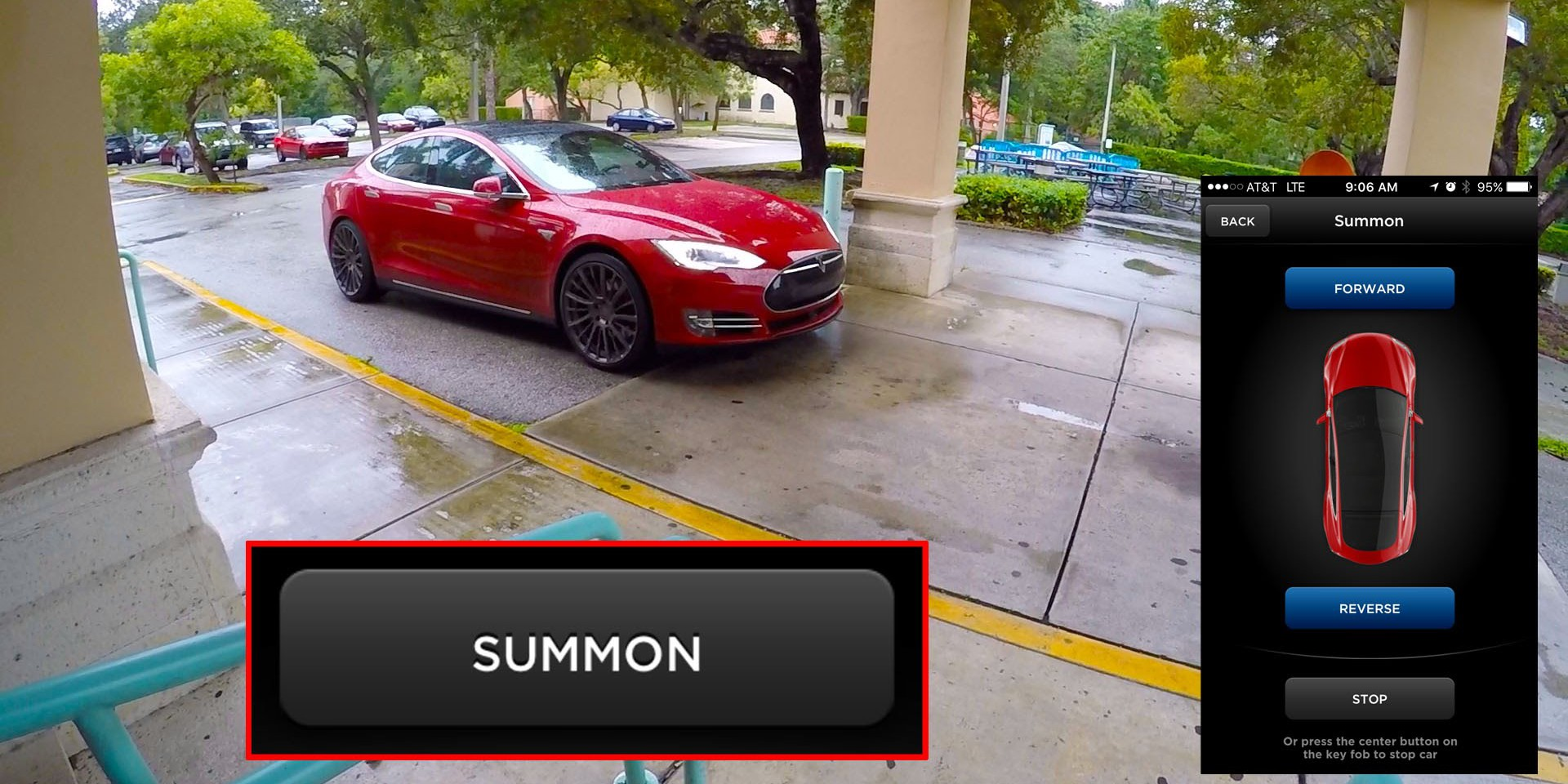 How to use tesla summon